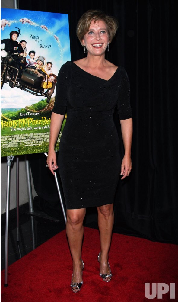 "Emma Thompson arrives at the ""Nanny McPhee Returns"" Premiere in New York"
