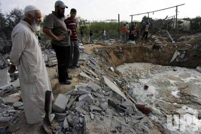An Israeli Air Strikes in Gaza