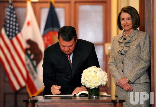 King Abdullah II of Jordan meets with Speaker Pelosi in Washington