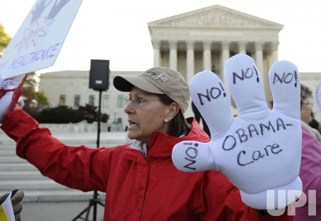 Supreme Court holds a second day of hearings on health care act in Washington DC
