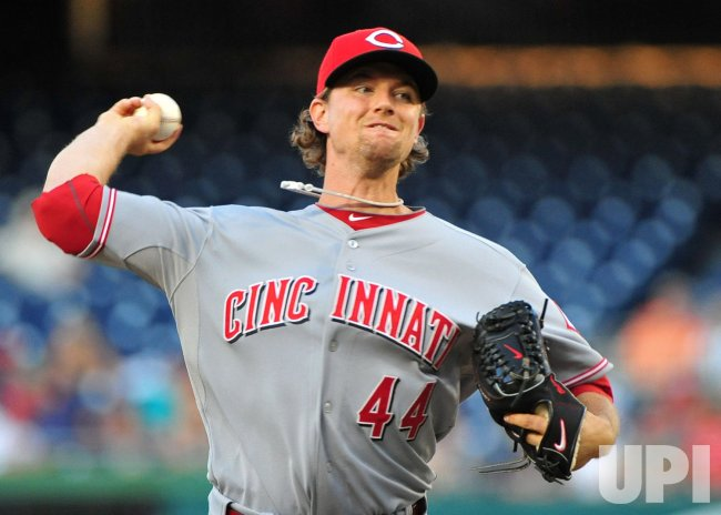 Reds' pitcher Mike Leake in Washington