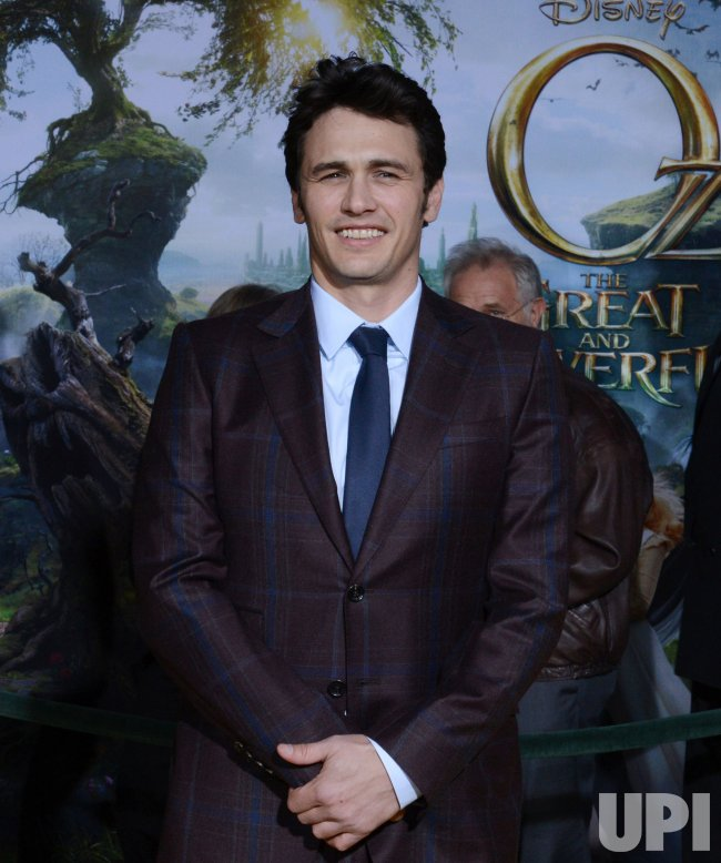 "James Franco attends ""Oz The Great and Powerful"" premiere in Los Angeles"