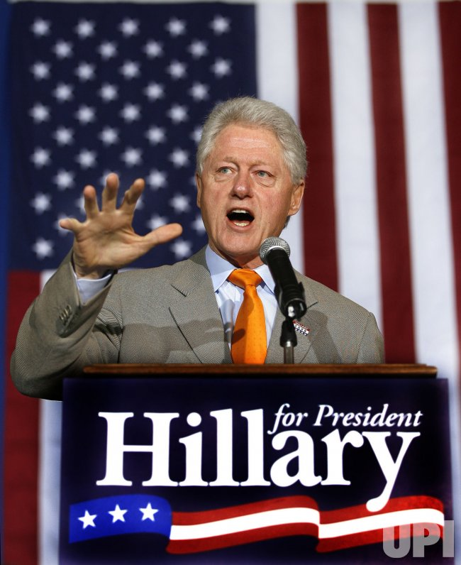 Bill Clinton campaigns for his wife in New Orleans