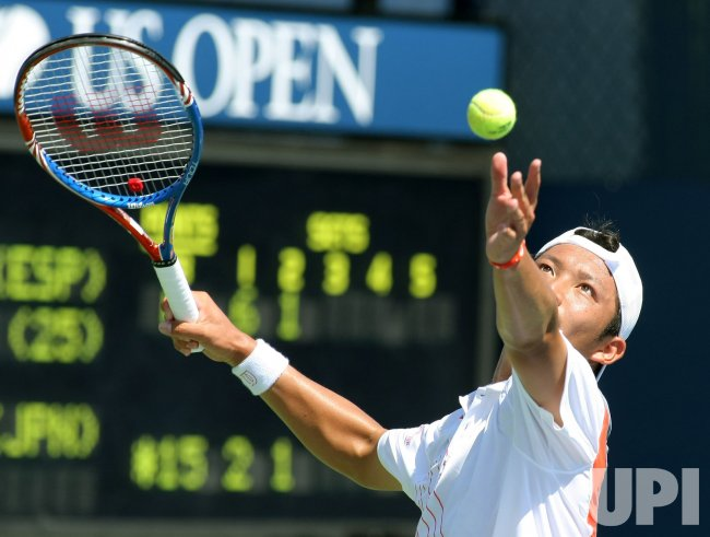 Feliciano Lopez and Tatsuma Ito compete at the U.S. Open in New York