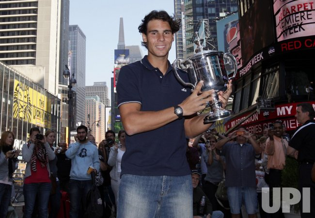 U.S. Open Champion Rafael Nadal in Times Square in New York