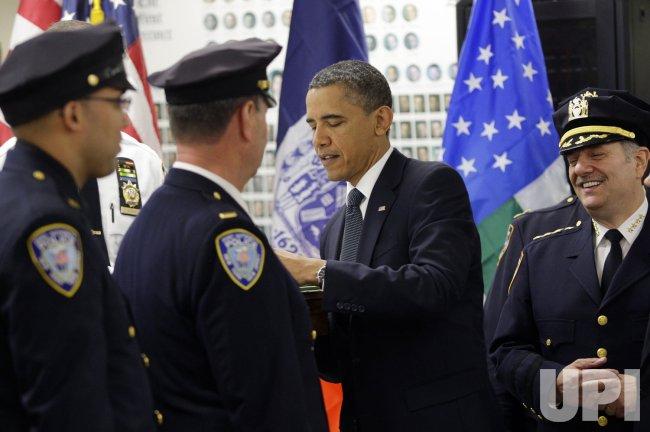 President Barack Obama Visits Ground Zero in New York