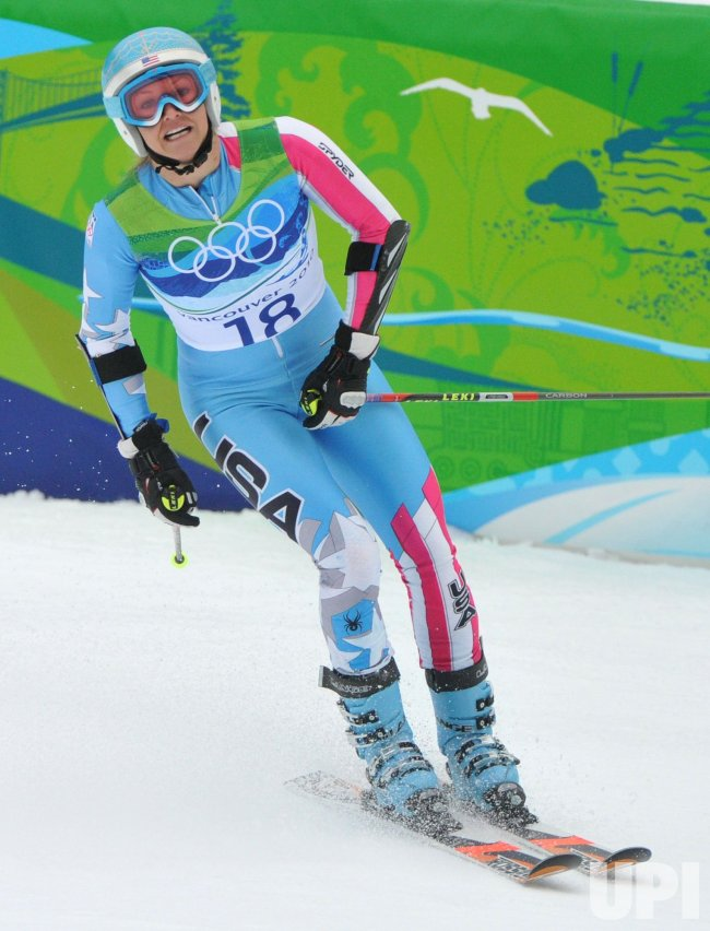 USA's Julia Mancuso competes in the Women's Giant Slalom in Whistler