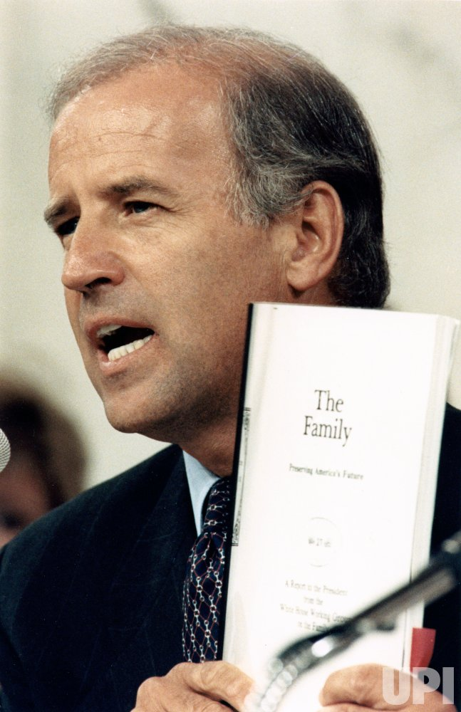 Sen. Joseph Biden during confirmation hearings for nominee Judge Clarence Thomas