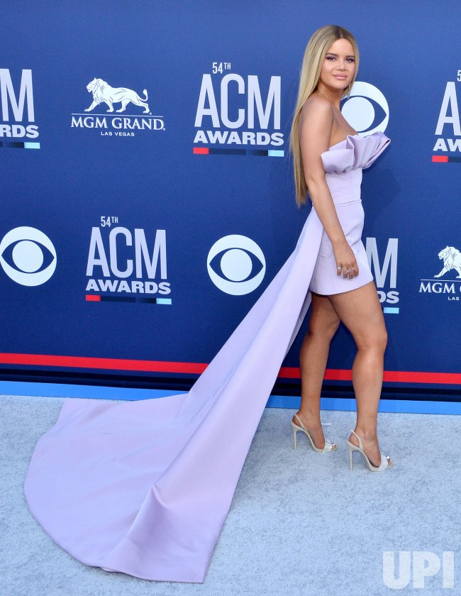 Maren Morris attends the Academy of Country Music Awards in Las Vegas