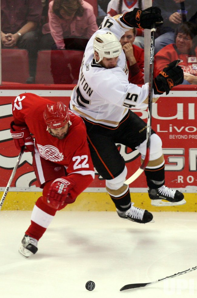 ANAHEIM DUCKS VS DETROIT RED WINGS WESTERN CONFERENCE FINALS