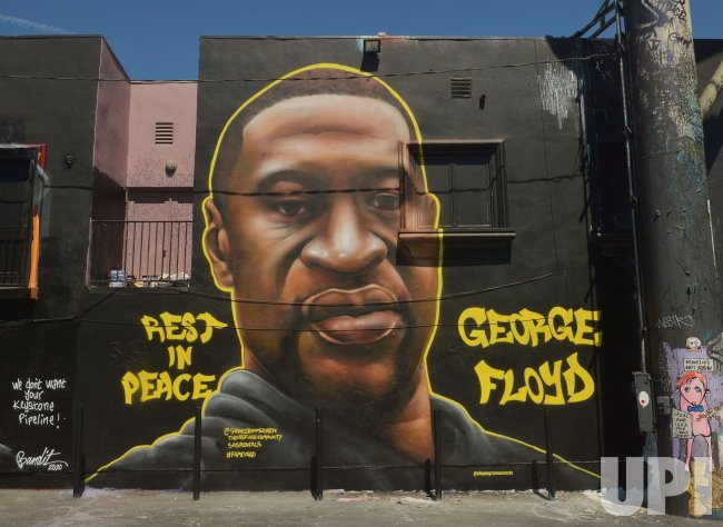 A Mural Commemorates George Floyd in L.A.
