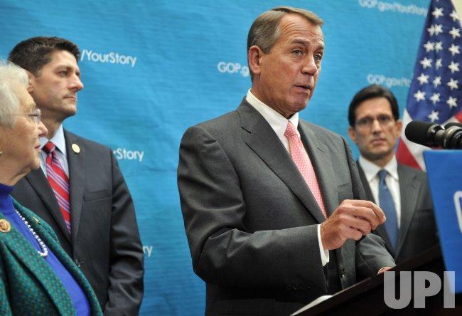 House Republican Leadership Speak Following a meeting in Washington, D.C.