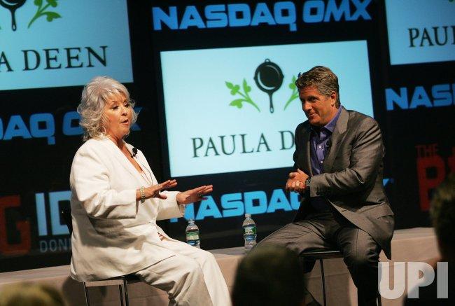 Paula Deen interviewed by CNBC's Donny Deutsch at the NASDAQ in New York