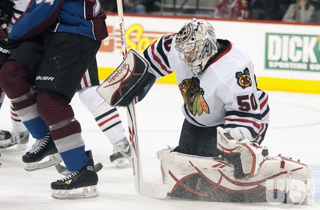Crawford Replaced Turco in Goal Against the Avalanche in Denver