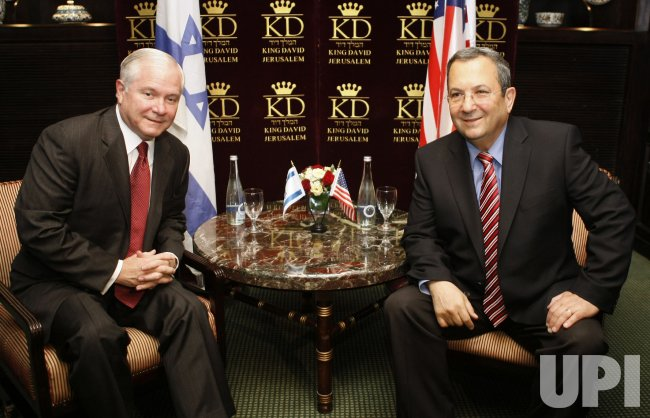 U.S. Defense Secretary Robert Gates meets with Israel's Defense Minister Ehud Barak in Jerusalem