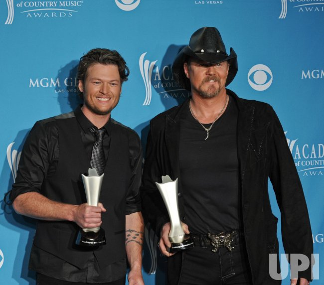Trace Adkins and Blake Shelton win Vocal Event of the Year at the ACM Awards in Las Vegas