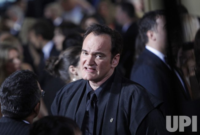 Quentin Tarantino arrives at the 67th Golden Globes in Beverly Hills