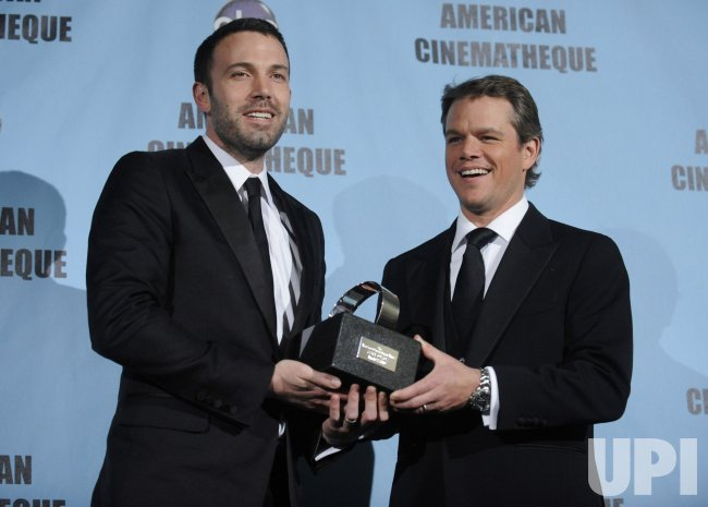 Ben Affleck presents the 24th annual American Cinematheque Award to Matt Damon in Beverly Hills, California