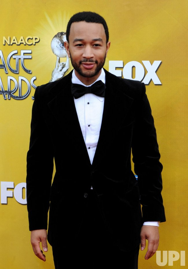 John Legend arrives at the 41st NAACP Image Awards in Los Angeles
