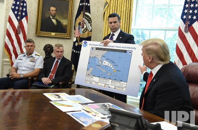 President Trump is briefed on Hurricane Dorian