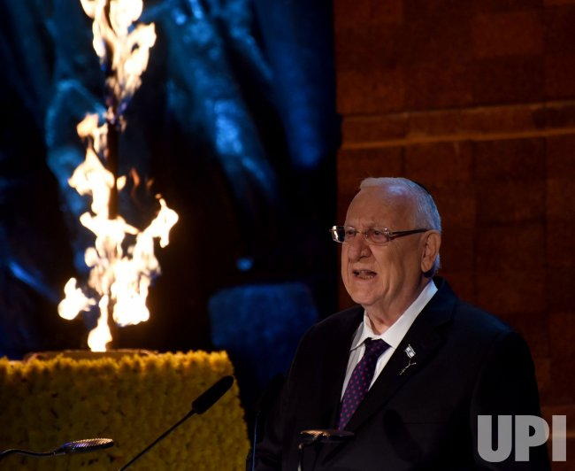 Israeli President Reuven Rivlin Speaks At Holocaust Remembrance Day