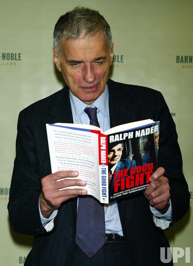 RALPH NADER BOOK SIGNING