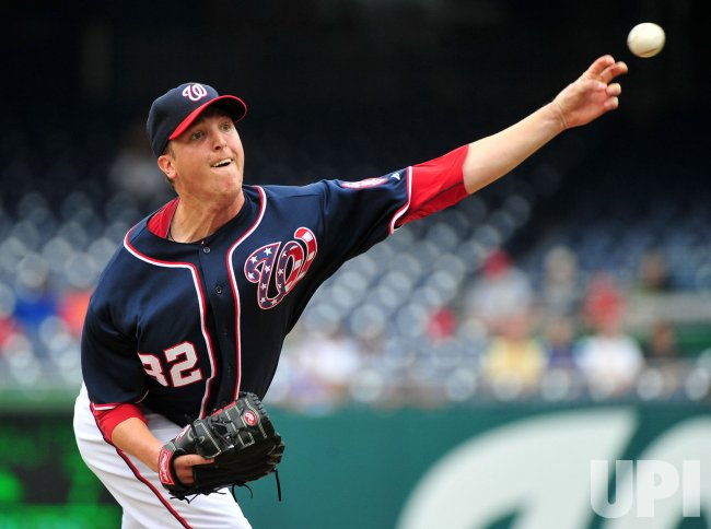 Nationals' pitcher Tom Gorzelanny pitches in Washington