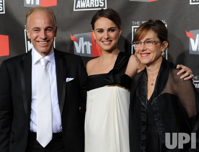 Natalie Portman and her parents arrive at the 16th annual Critics' Choice Awards in Los Angeles