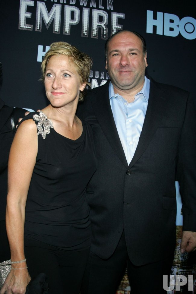 "Edie Falco and James Gandolfini arrive for the premiere of ""Boardwalk Empire"" in New York"