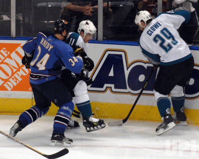 ATLANTA THRASHERS VS SAN JOSE SHARKS