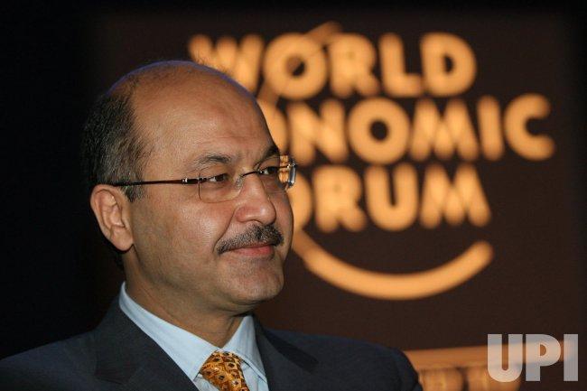 KLAUS SCHWAB ADDRESSES THE OPENING OF THE WORLD ECONOMIC FORUM