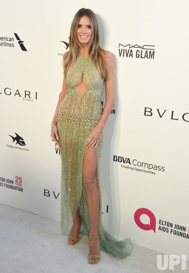Heidi Klum attends the Elton John Aids Foundation Oscar viewing party in Los Angeles