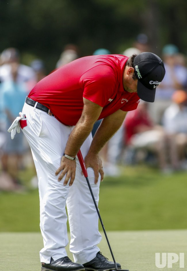 Patrick Reed reacts during the 2017 PGA Championship