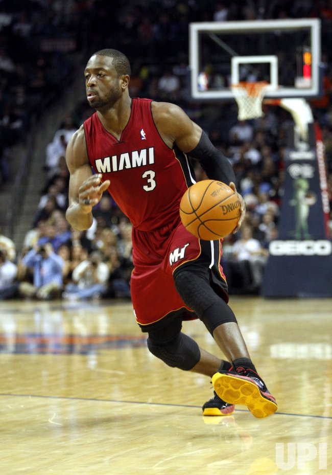 Dwyane Wade leads the Miami Heat against the Charlotte Bobcats
