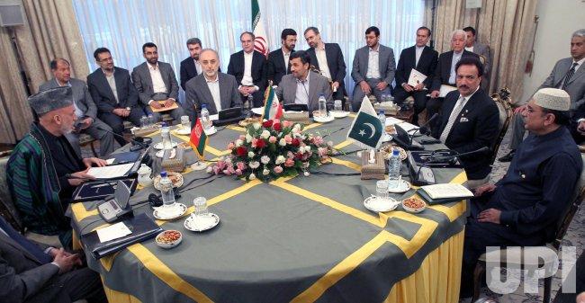 Afghan President Hamid Karzai visits Tehran, Iran