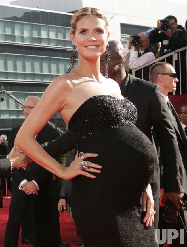 Heidi Klum arrives at the 61st Primetime Emmy Awards in Los Angeles