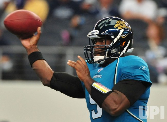 Jaguars' quarterback David Garrard in Texas