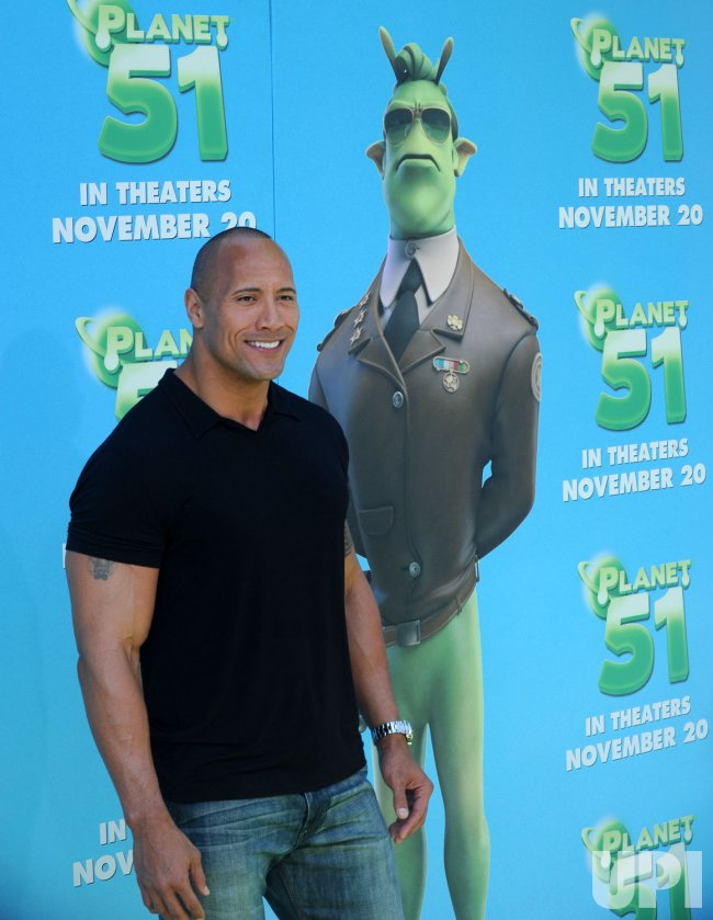"Dwayne Johnson attends the premiere of his new film ""Planet 51"" in Los Angeles"