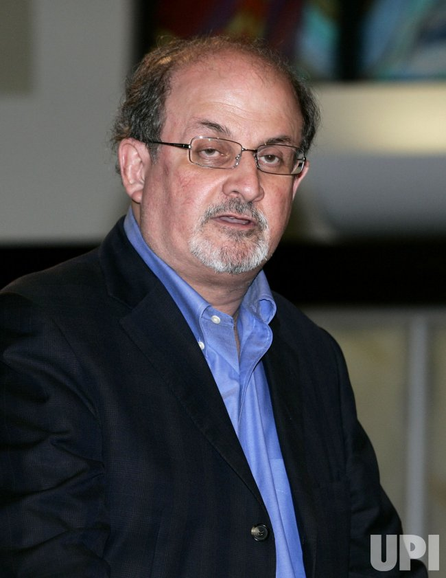 Salman Rushdie appears at a book signing in Coral Gables, Florida