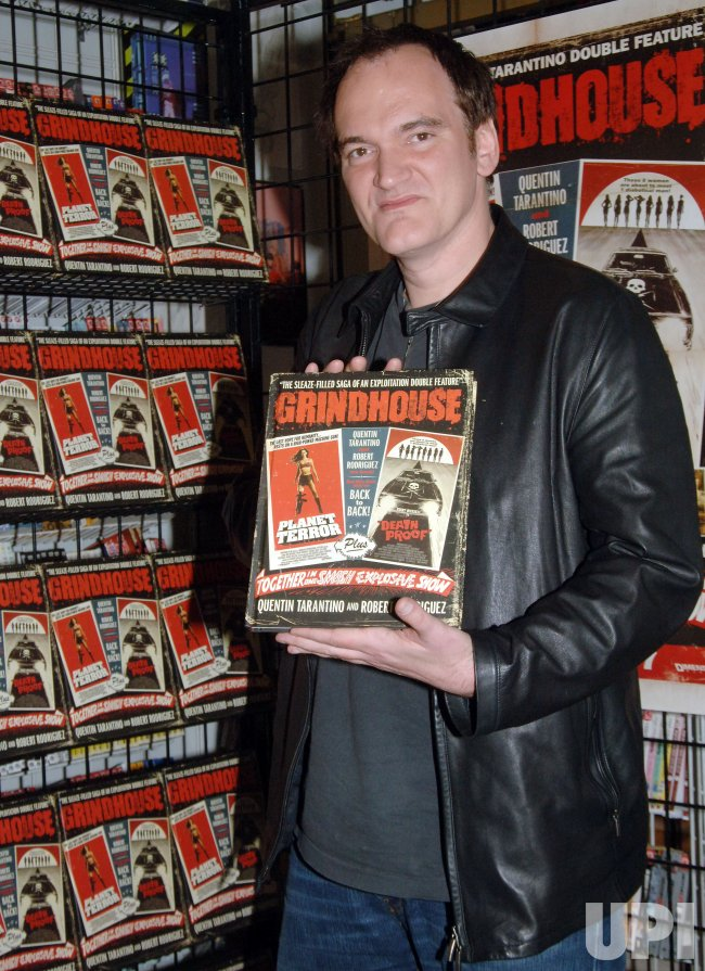 "DIRECTOR TARANTINO PROMOTES NEW FILM ""GRINDHOUSE"" IN NEW YORK"