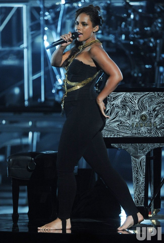 Alicia Keys performs at the BET Awards in Los Angeles