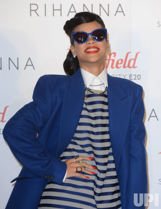 Rihanna attends a photo call in London