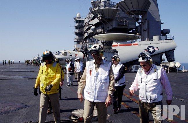 Cheney visits USS John Stennis