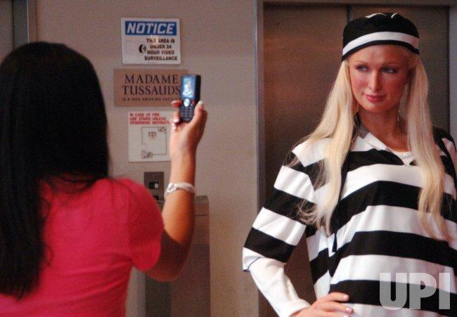 PARIS HILTON WAX FIGURE IN PRISON GARB DISPLAYED IN NEW YORK