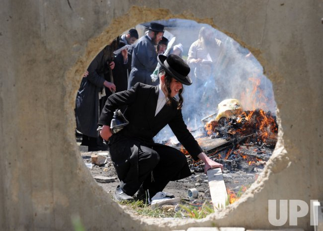 Jews Burn Bread Before Passover, Jerusalem