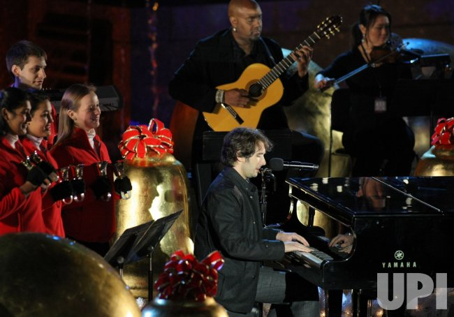Josh Groban performs at Rockefeller Center Christmas tree lighting ceremony in New York