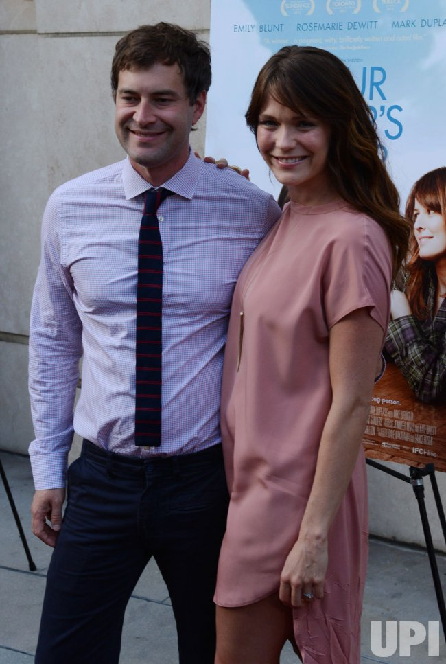 "Mark Duplass and Katie Aselton attend the ""Your Sister's Sister"" premiere in Los Angeles"