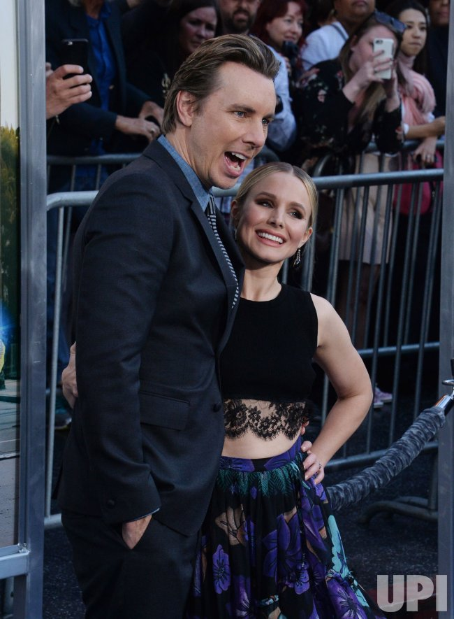 "Dax Shepard and Kristen Bell attend the ""CHIPS"" premiere in Los Angeles"
