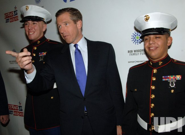 Brian Williams attends Stand up for Heroes gala in New York