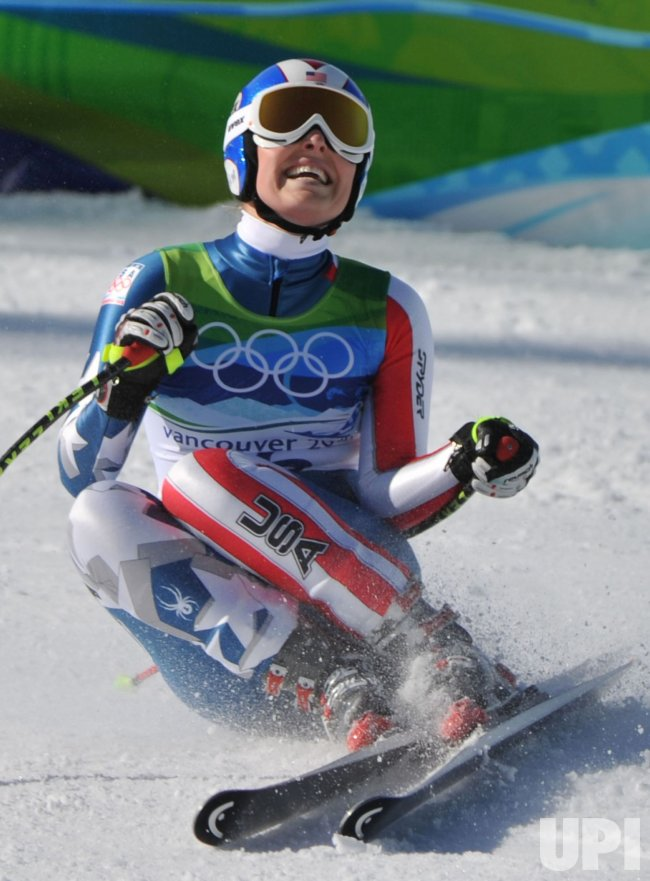 USA's Lindsey Vonn wins gold in the Women's Downhill in Whistler